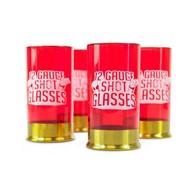 Kieliszki do shotów Naboje (4 szt.) 12 Gauge Shot Mustard