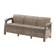 Trzyosobowa sofa Corfu love seat max (cappuccino-piaskowa) Keter
