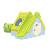 Domek dla dzieci ze zjeżdżalnią (zielono-błękitny) Funtivity Playhouse Keter