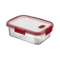 Szklany pojemnik na żywność (0,9 L) Smart Cook Curver (czerwony)